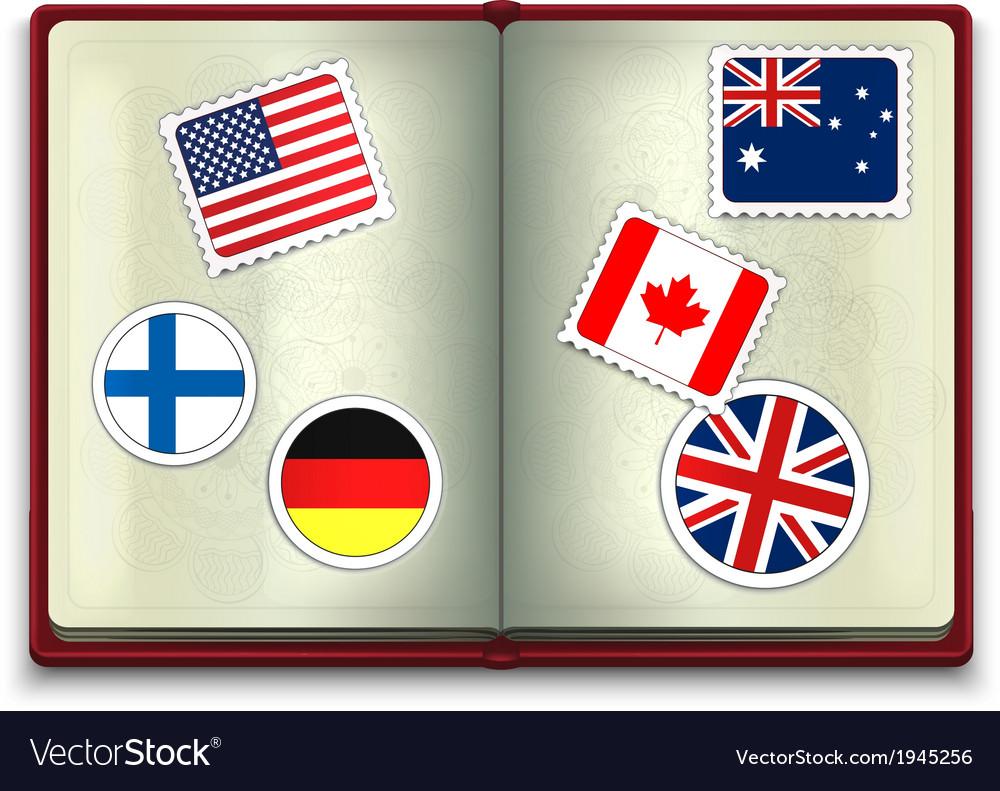 Open Passport vector image