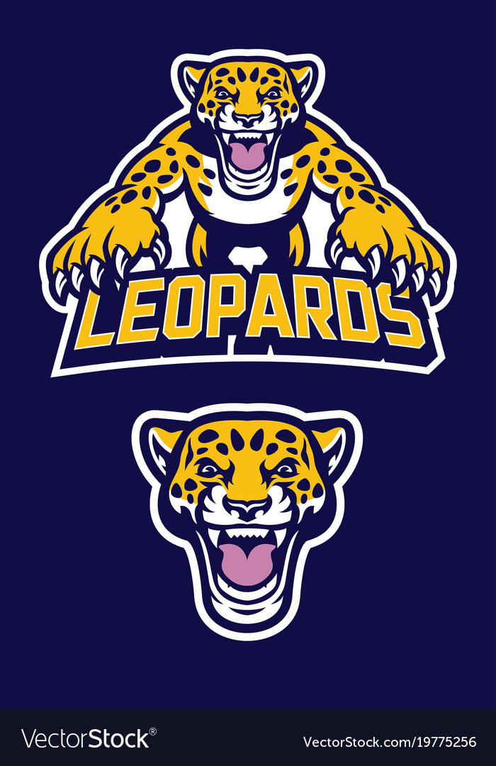 Pounching leopard mascot vector image