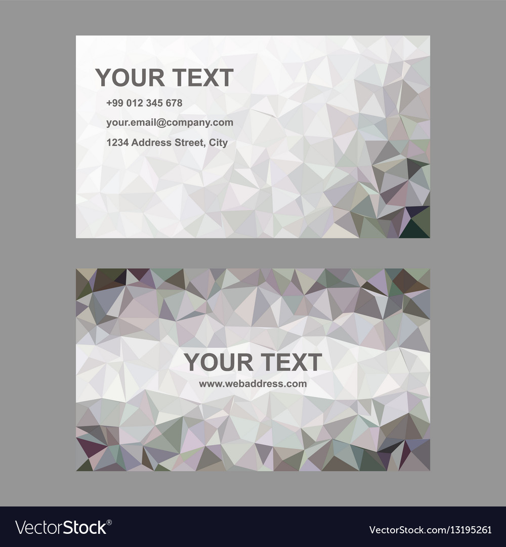 Abstract triangle design business card template