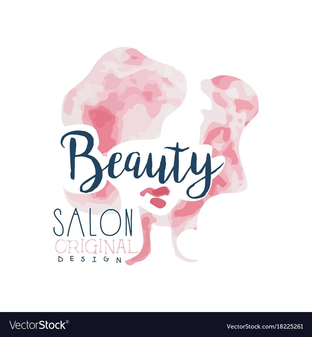 Beauty salon logo original design label for hair vector image altavistaventures Images