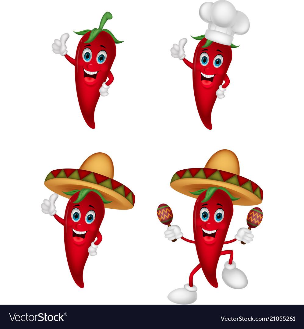 Cartoon chili collection set