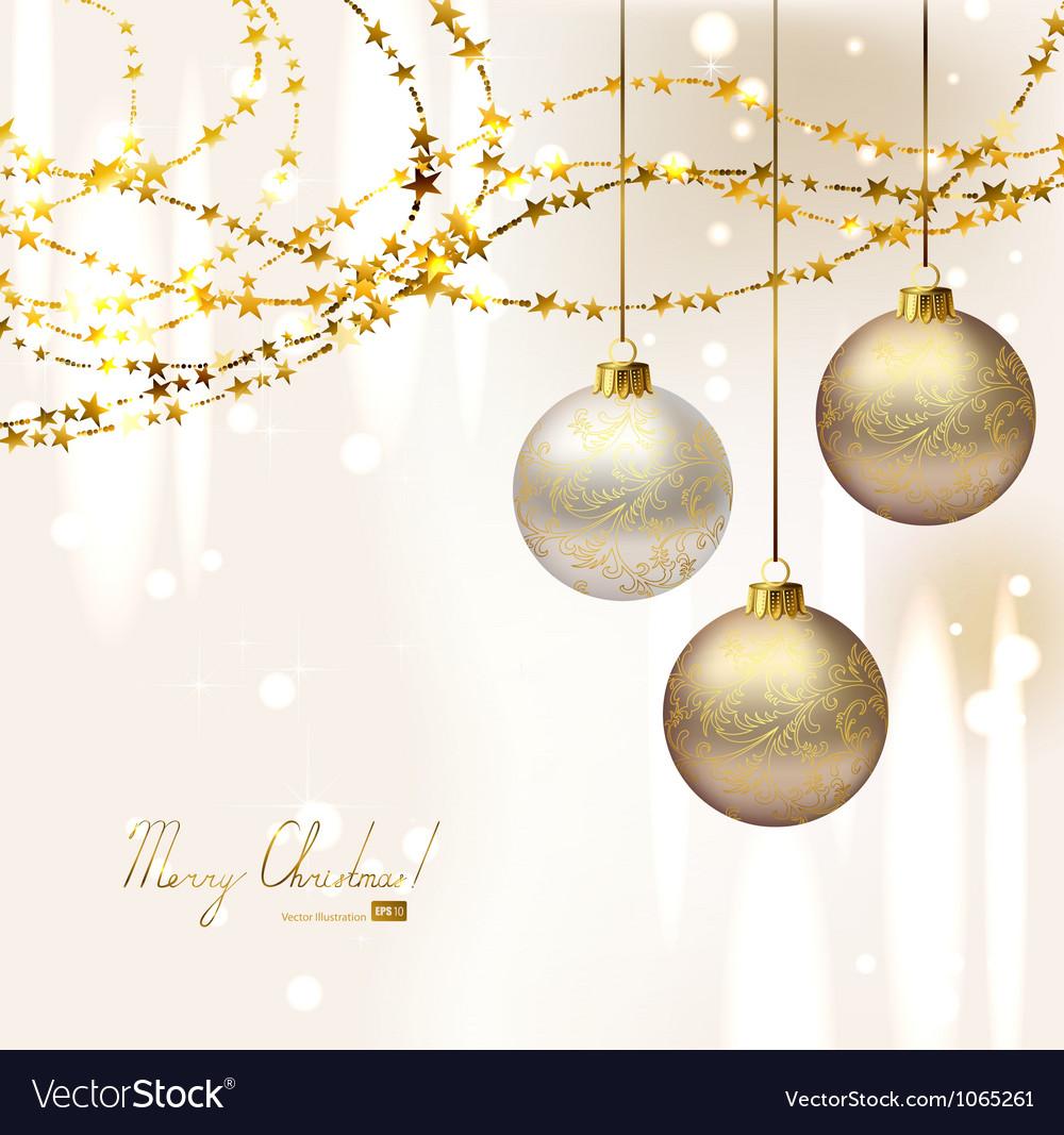 Elegant Christmas background Royalty Free Vector Image