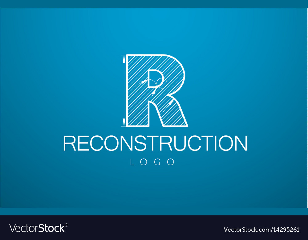 Logo template letter r in the style of a