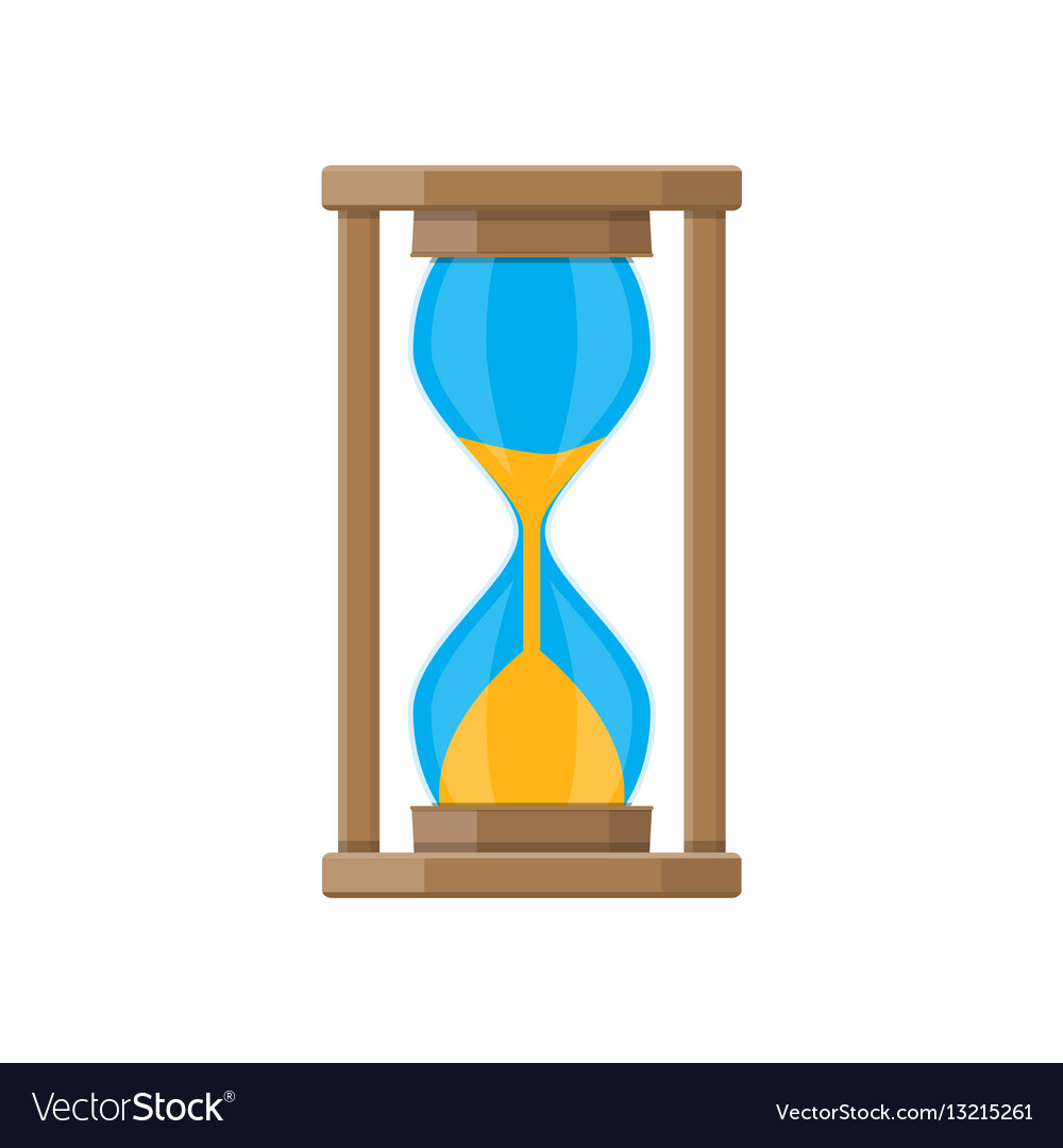Old style hourglass clocks with sand