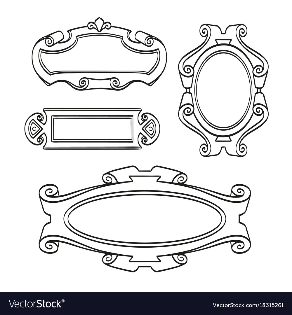 Set of vintage frames