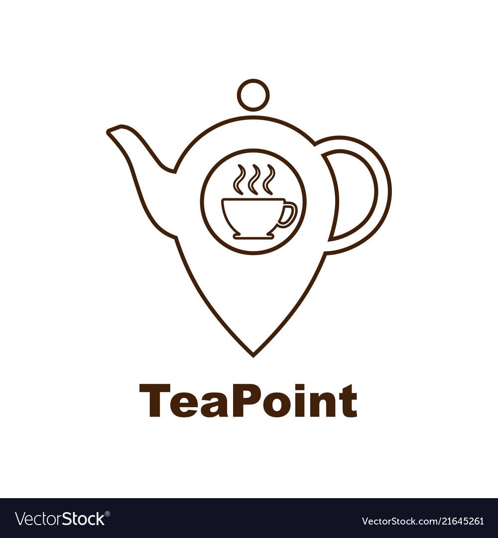 Tea point logo tea bar emblem internet shop