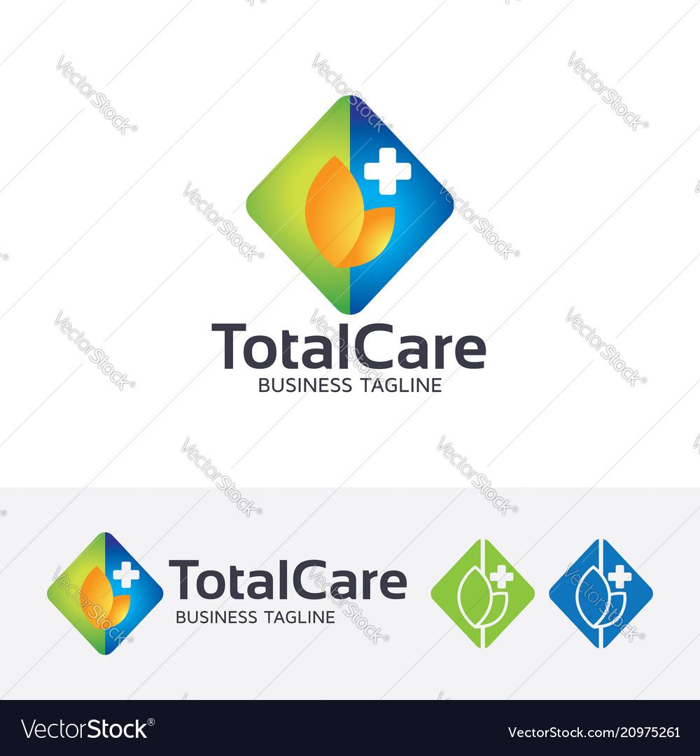 Total care logo design vector image