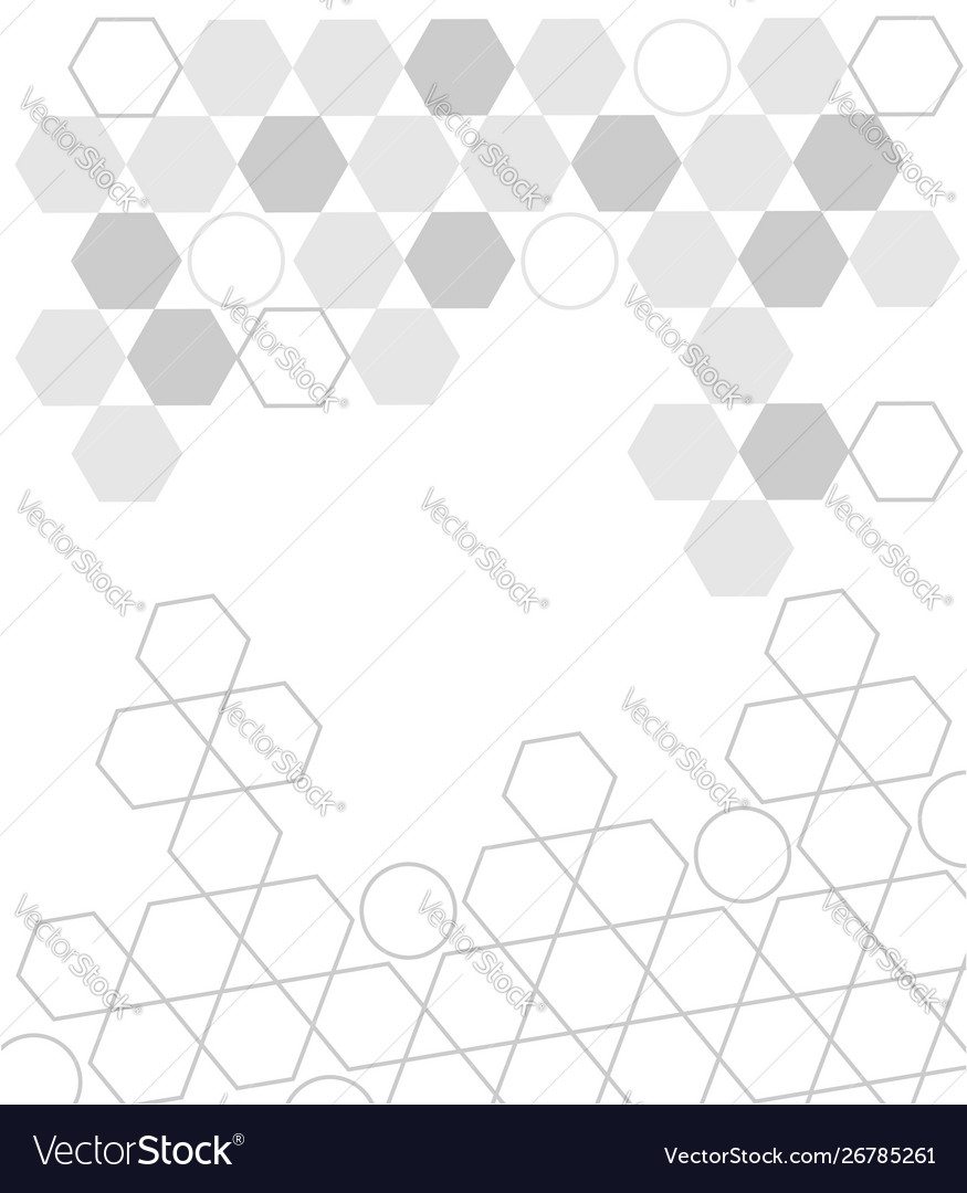 White gray abstract technology shape background