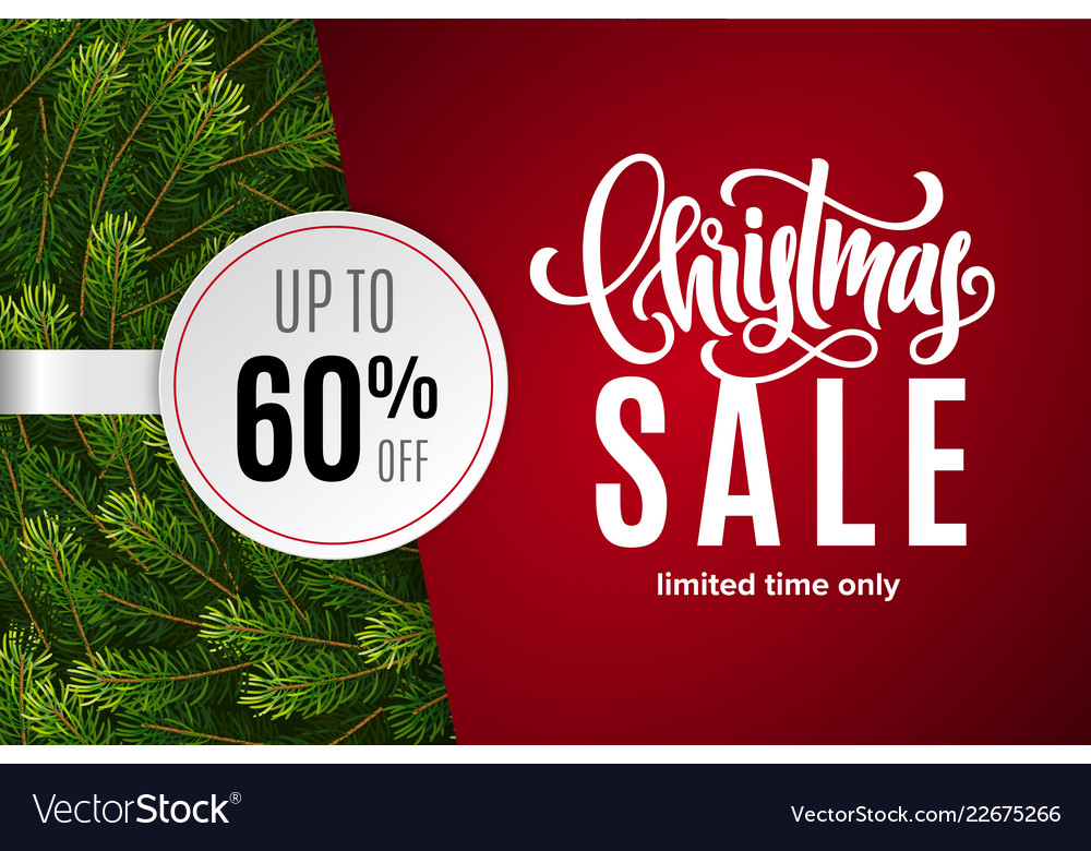 Christmas holiday sale 60 percent off