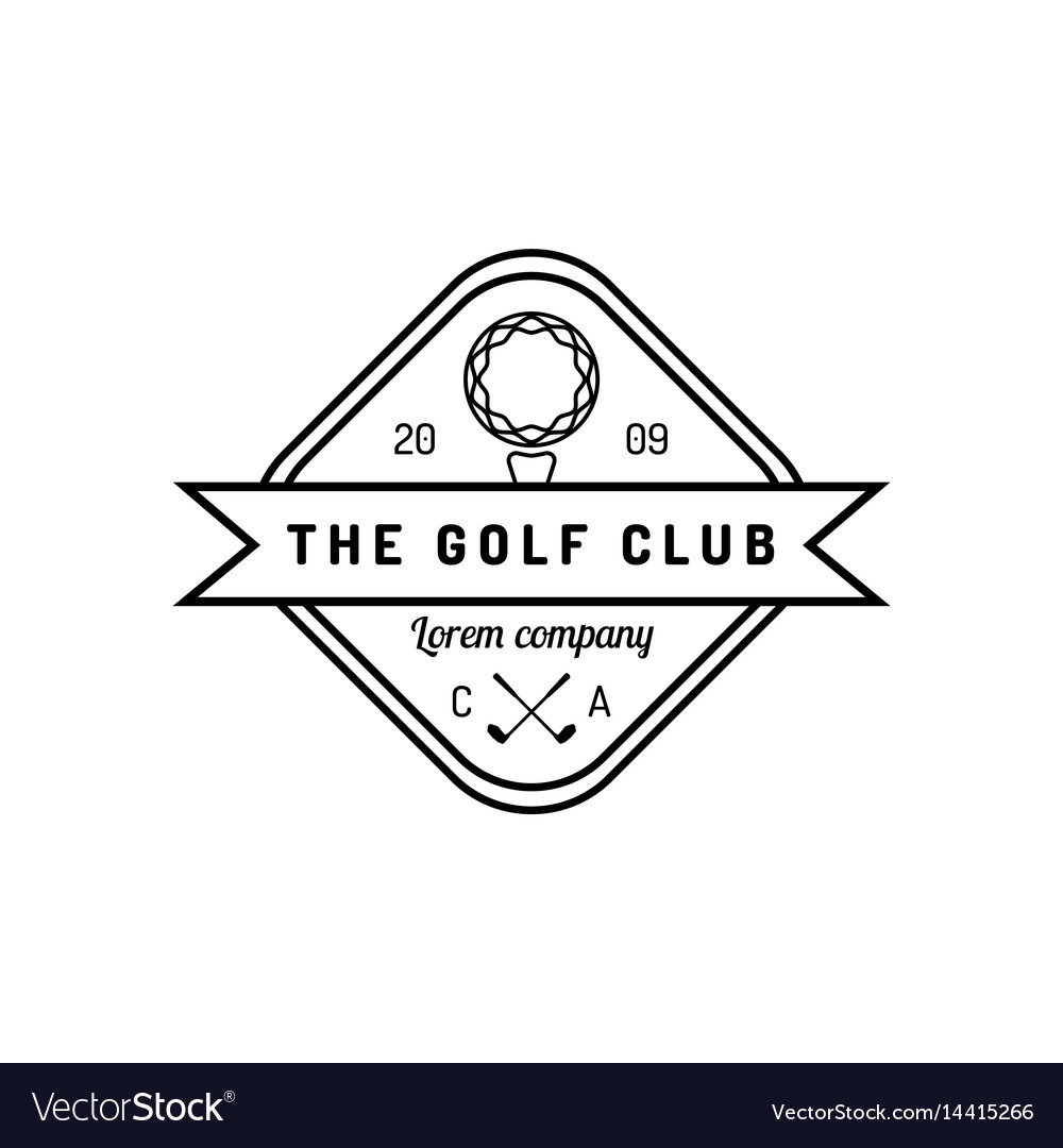 Golf logo sports club linear