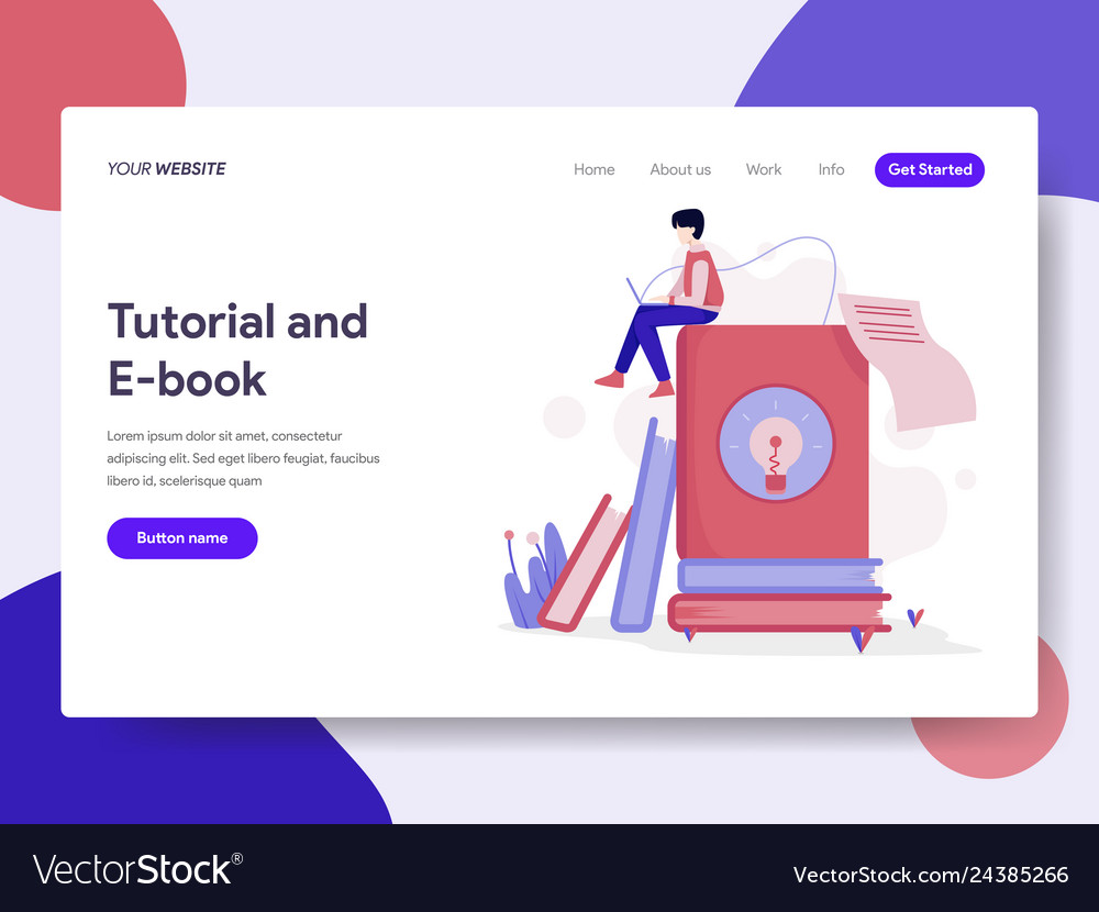 Landing page template tutorial and e-book