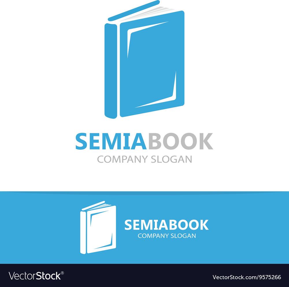 Open book logo concept