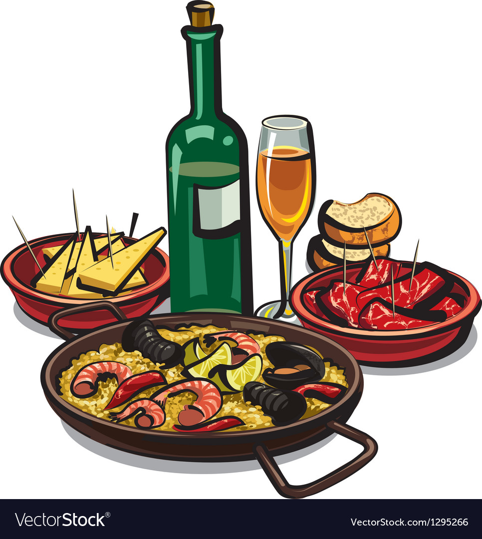 Paella with sea products