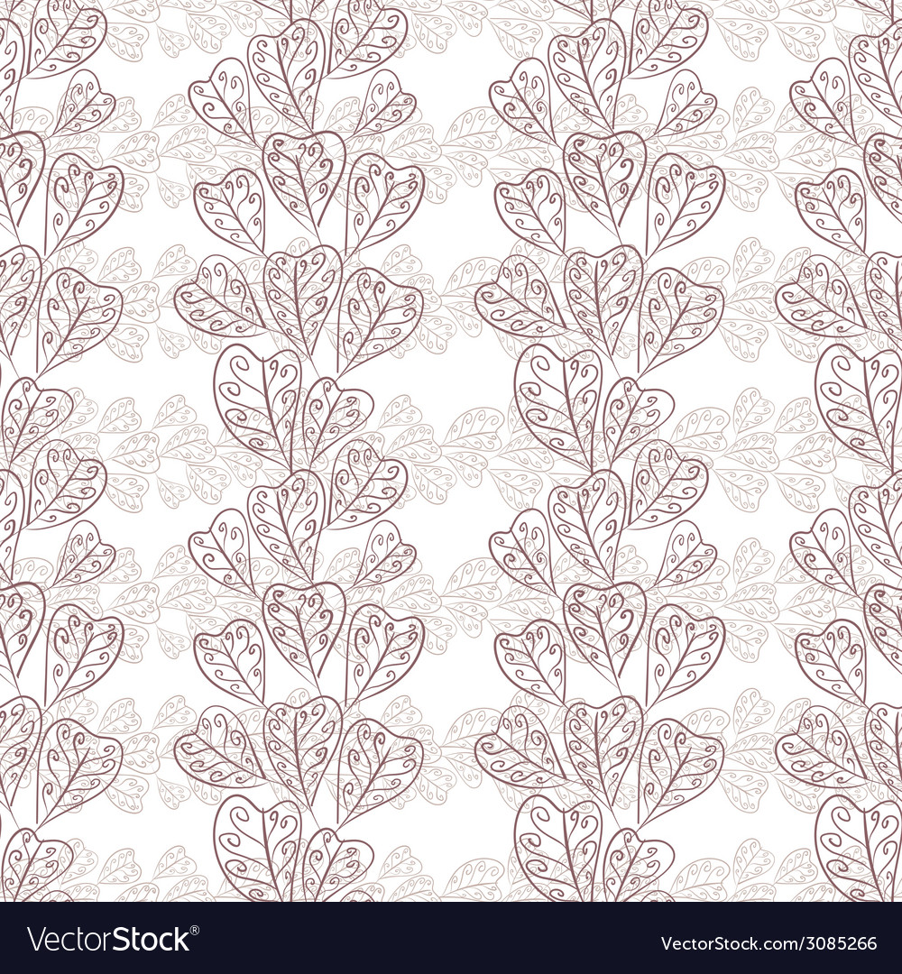 Seamless fall leaves pattern floral wallpaper hand