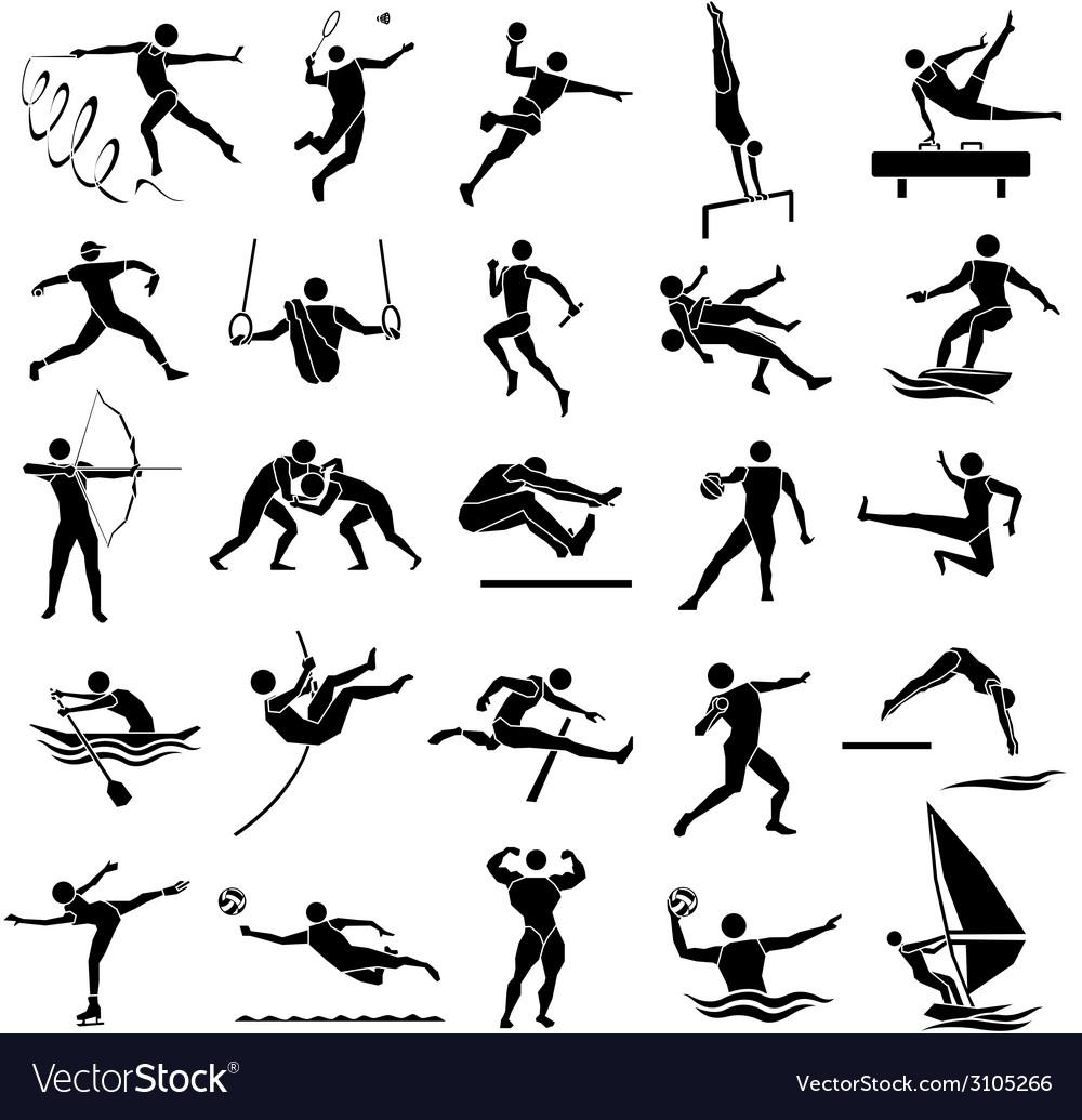 Sport icon set 02 vector image