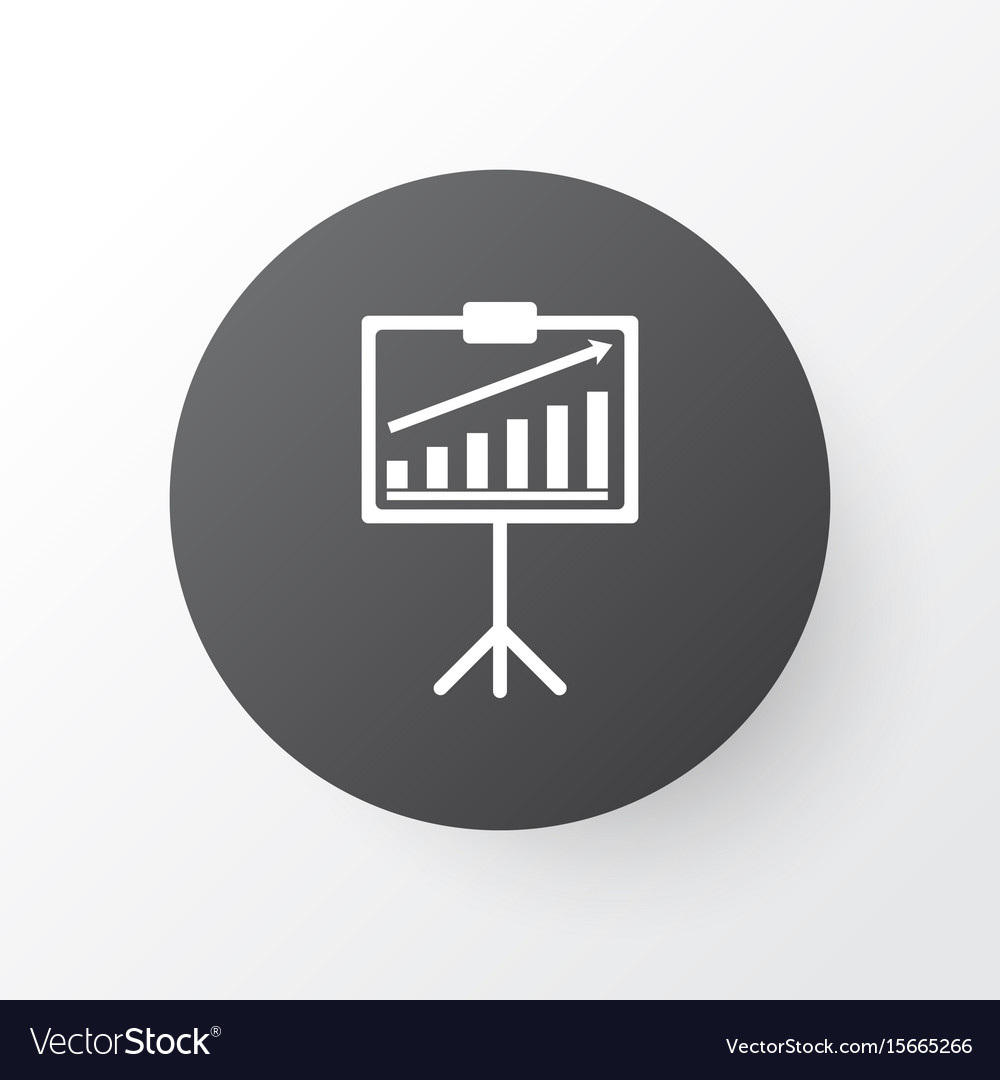 Statistical presentation icon symbol premium