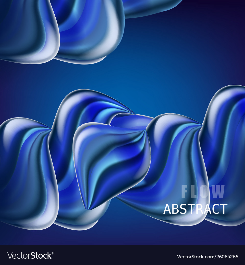 Trendy abctract colorful flow poster baner