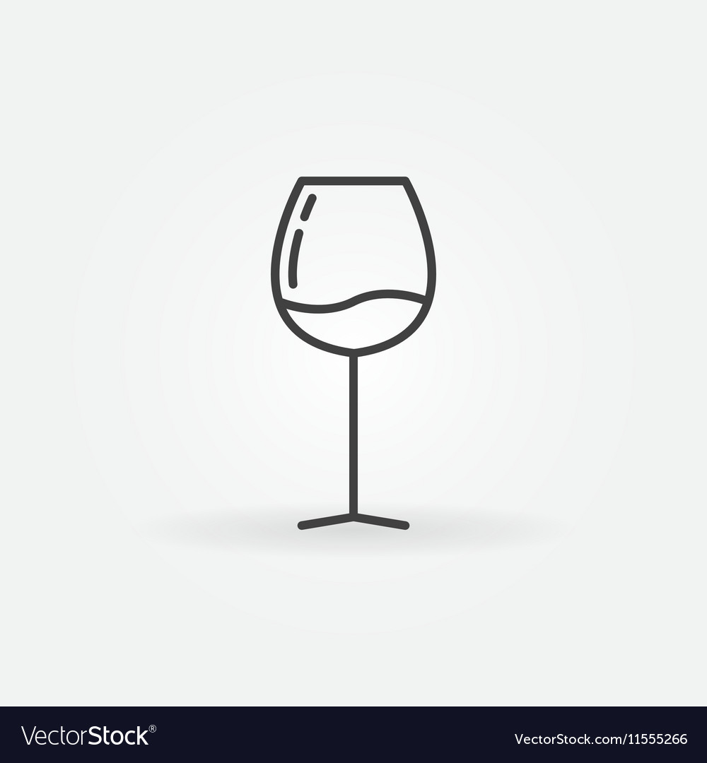 Wine glass line icon