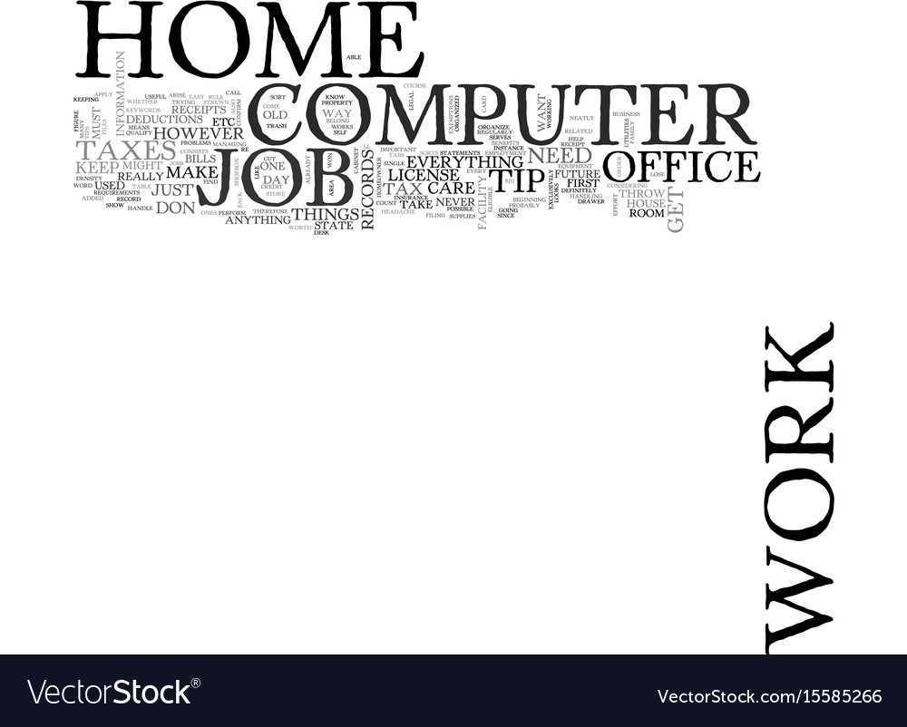 Work at home computer jobs text word cloud concept
