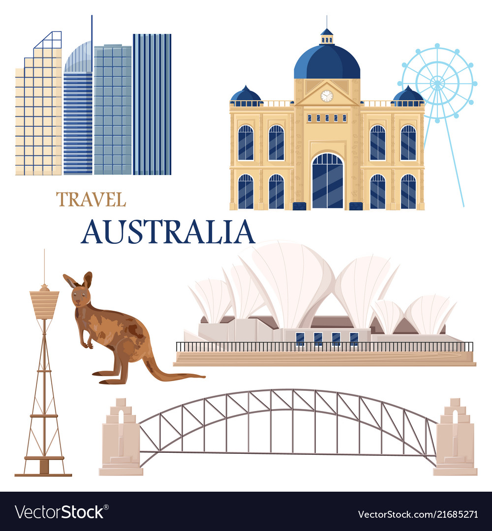 Australia set collection architecture and symbols