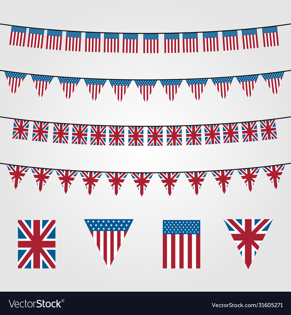 Bunting flags decoration symbol american or union