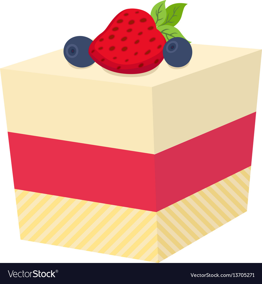 Cake with berries cupcake with strawberry and