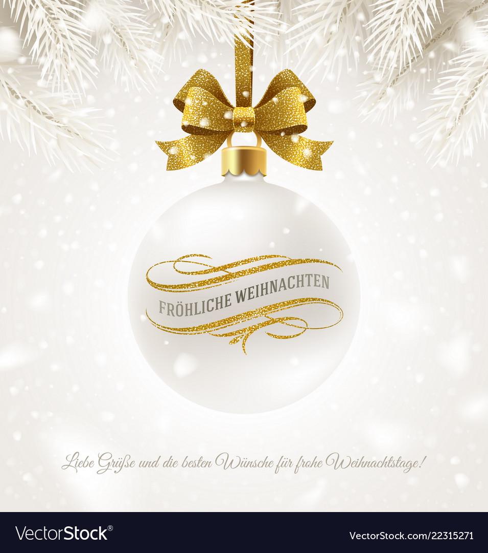 Christmas greeting in german