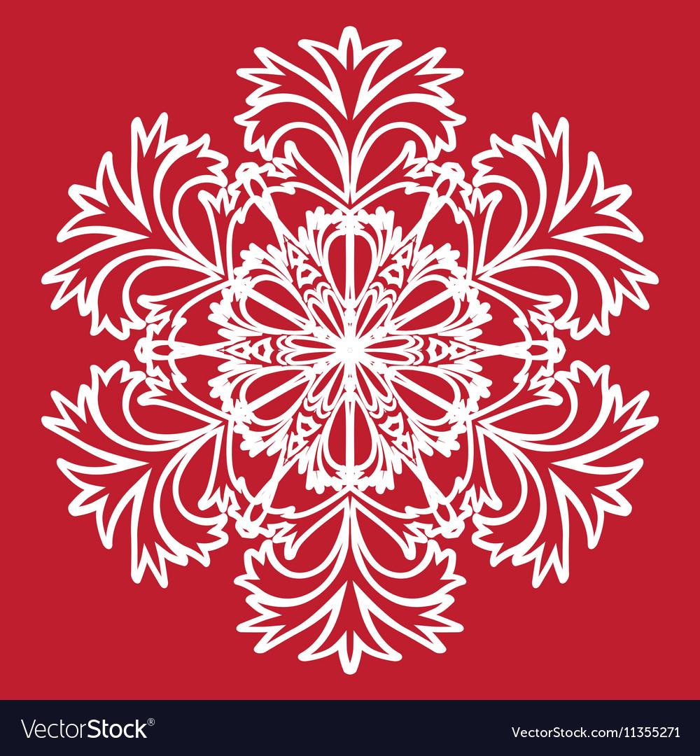 Decorative abstract snowflake