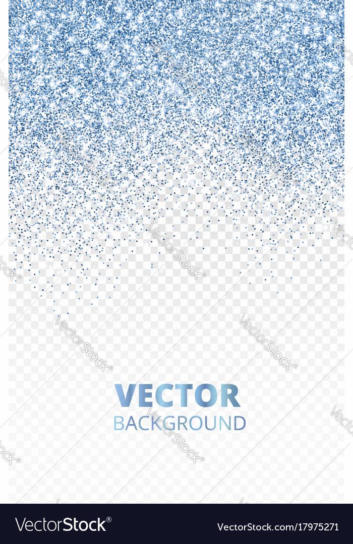 Falling glitter confetti blue dust