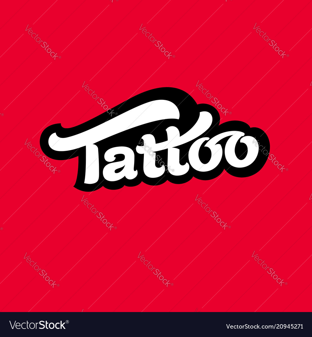 Logo tattoo image vector image