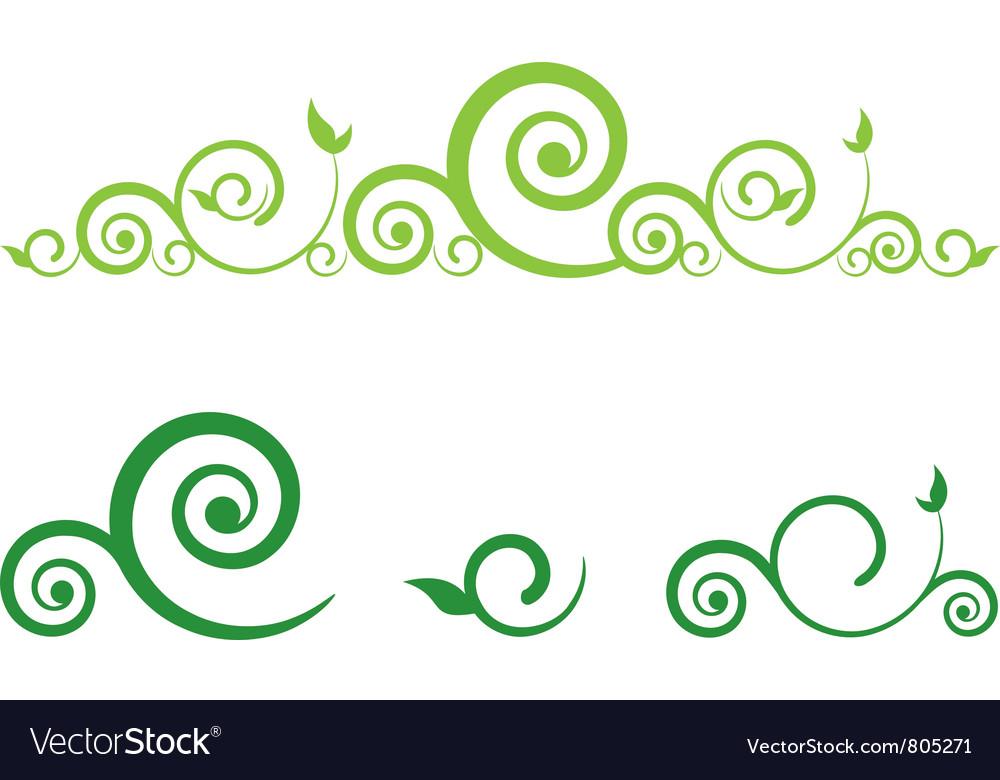 swirl floral border royalty free vector image vectorstock