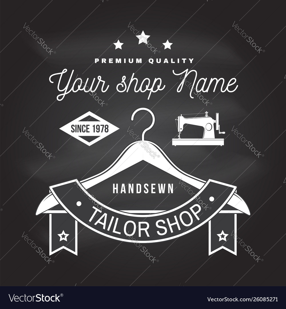 Tailor shop badge concept for print