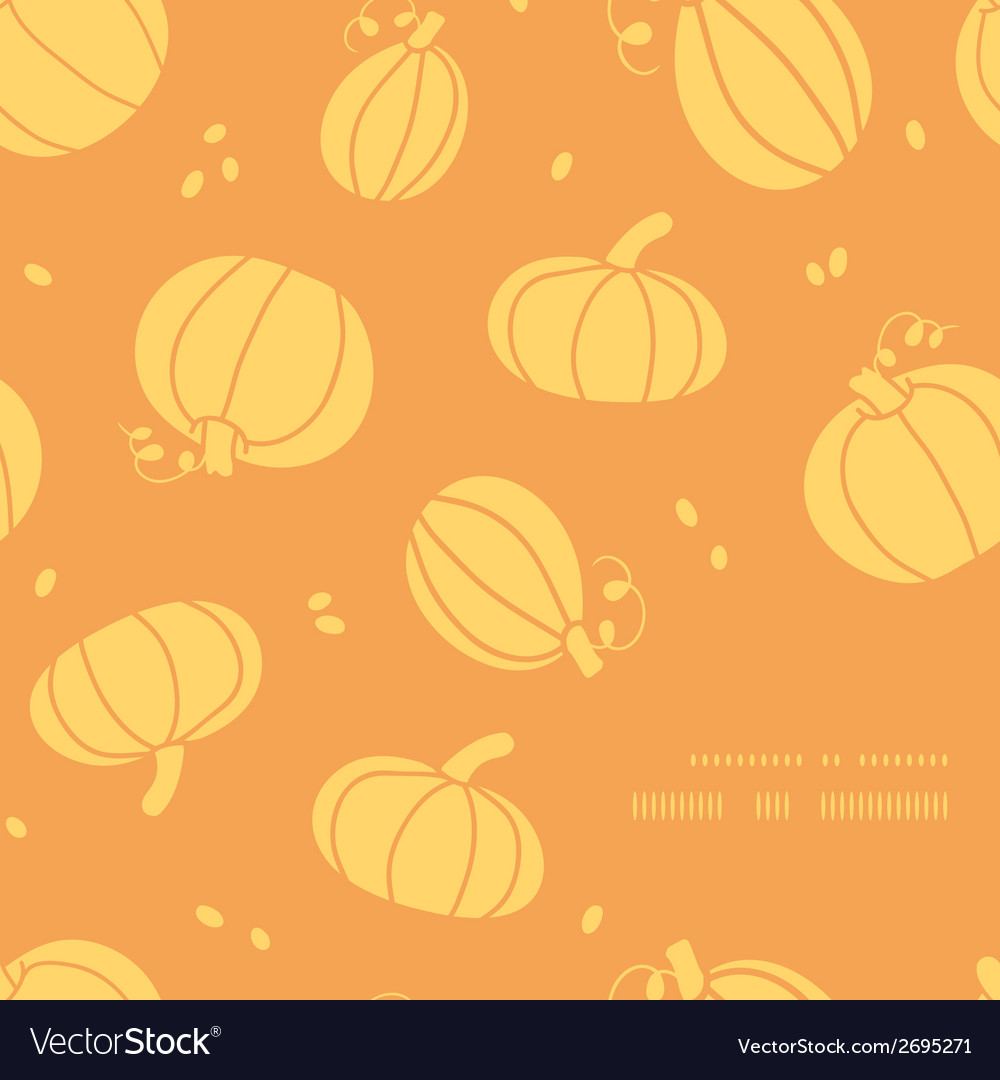Thanksgiving golden pumpkins frame corner pattern