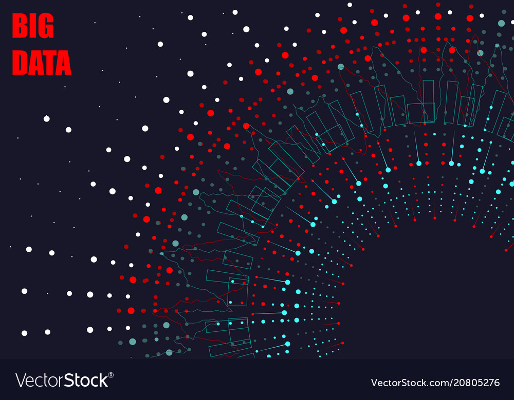 Abstract graph of big data design of infographics vector image