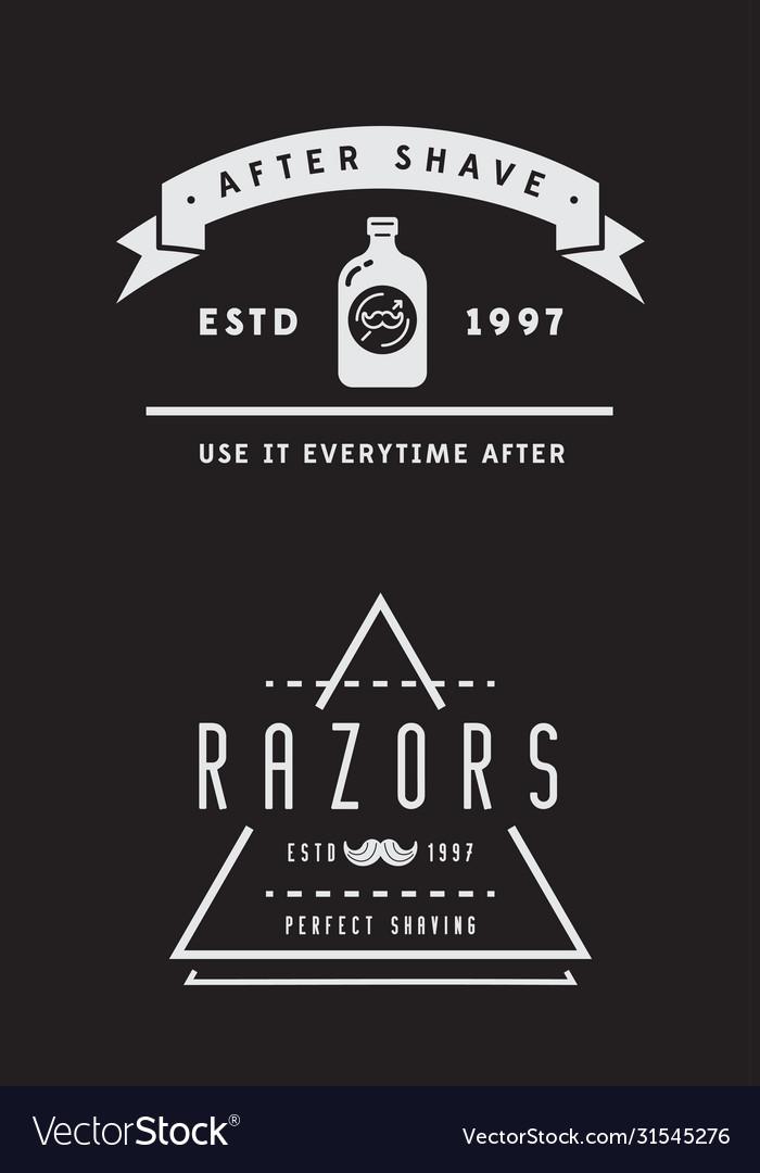 Barbershop or hairdressing salon set of
