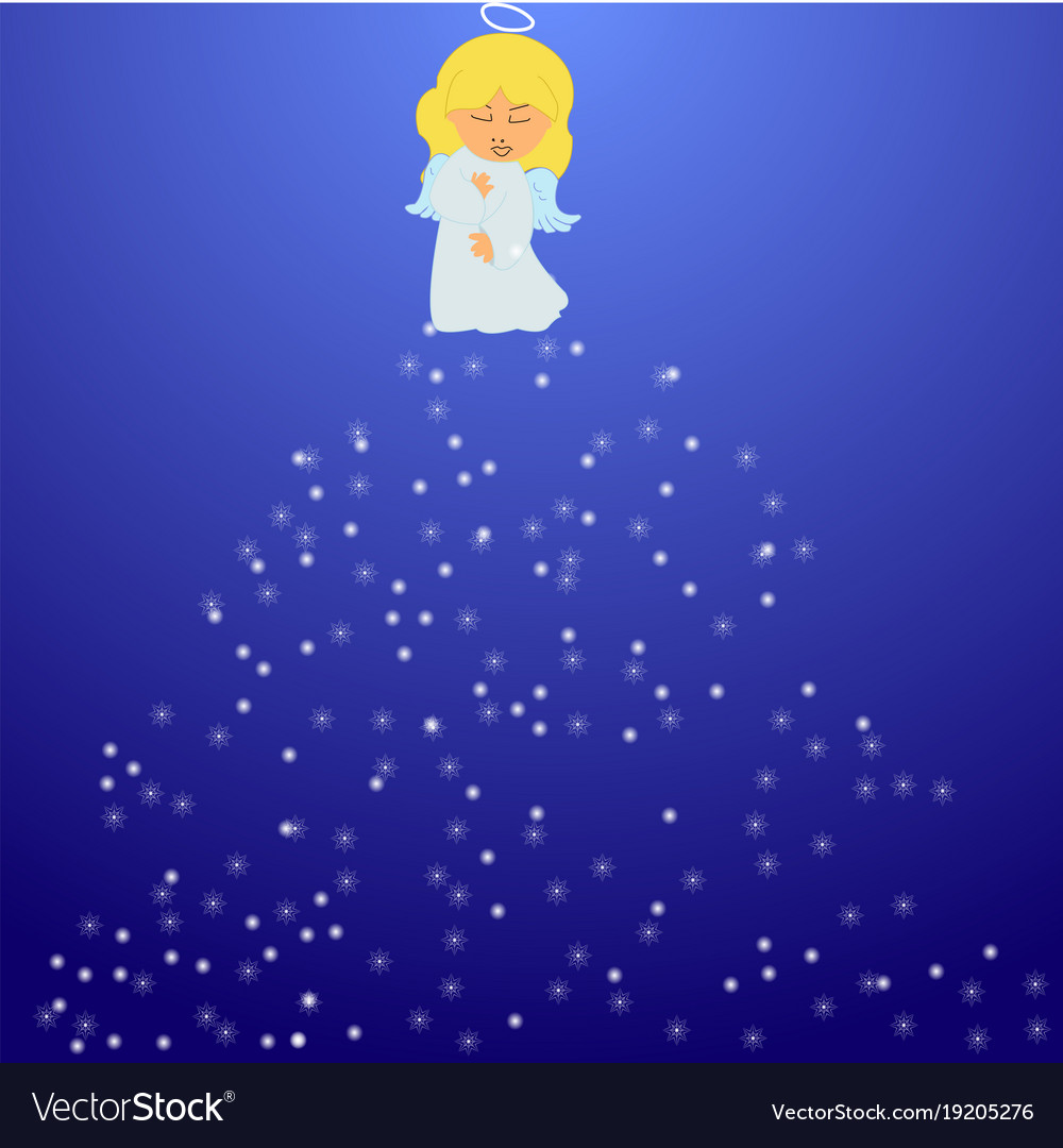 Christmas angel with snowflakes