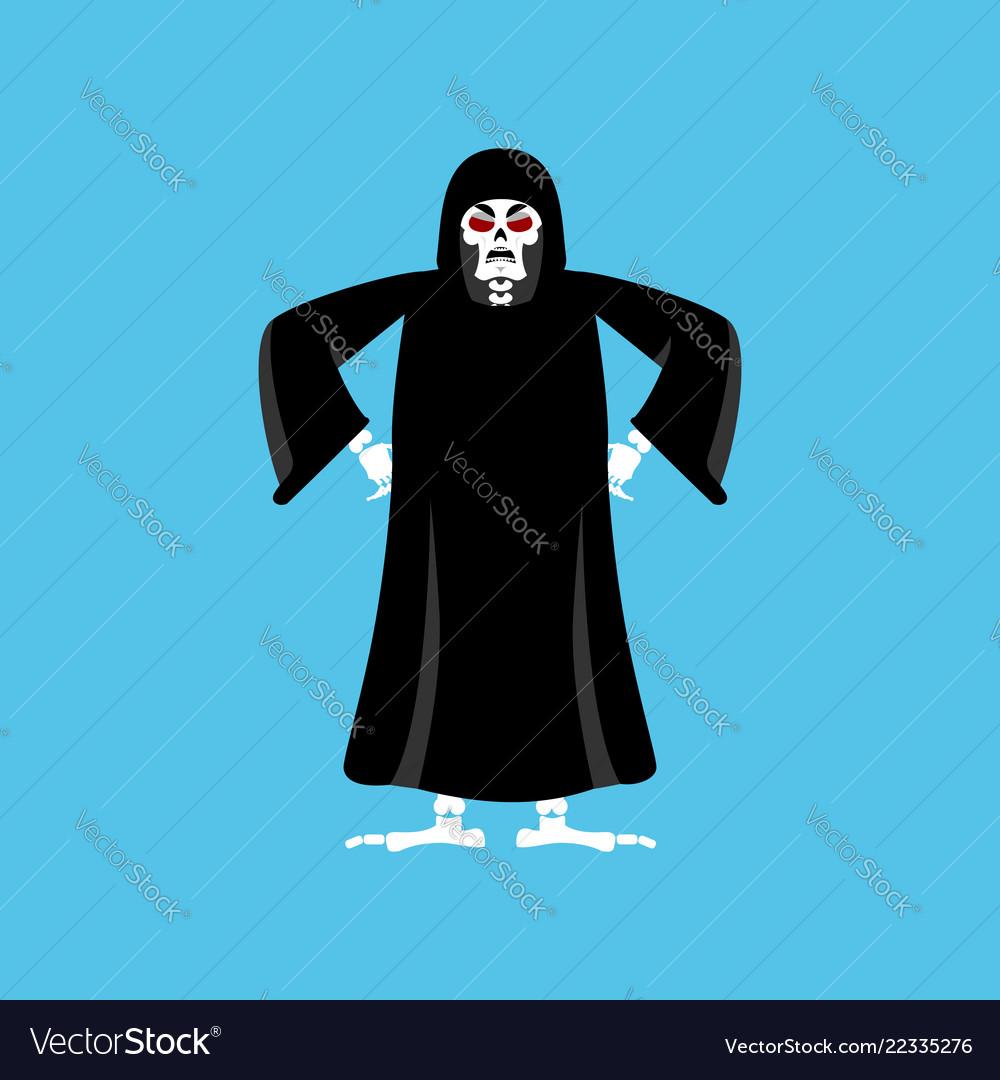 Grim reaper angry death evil aggressive skeleton