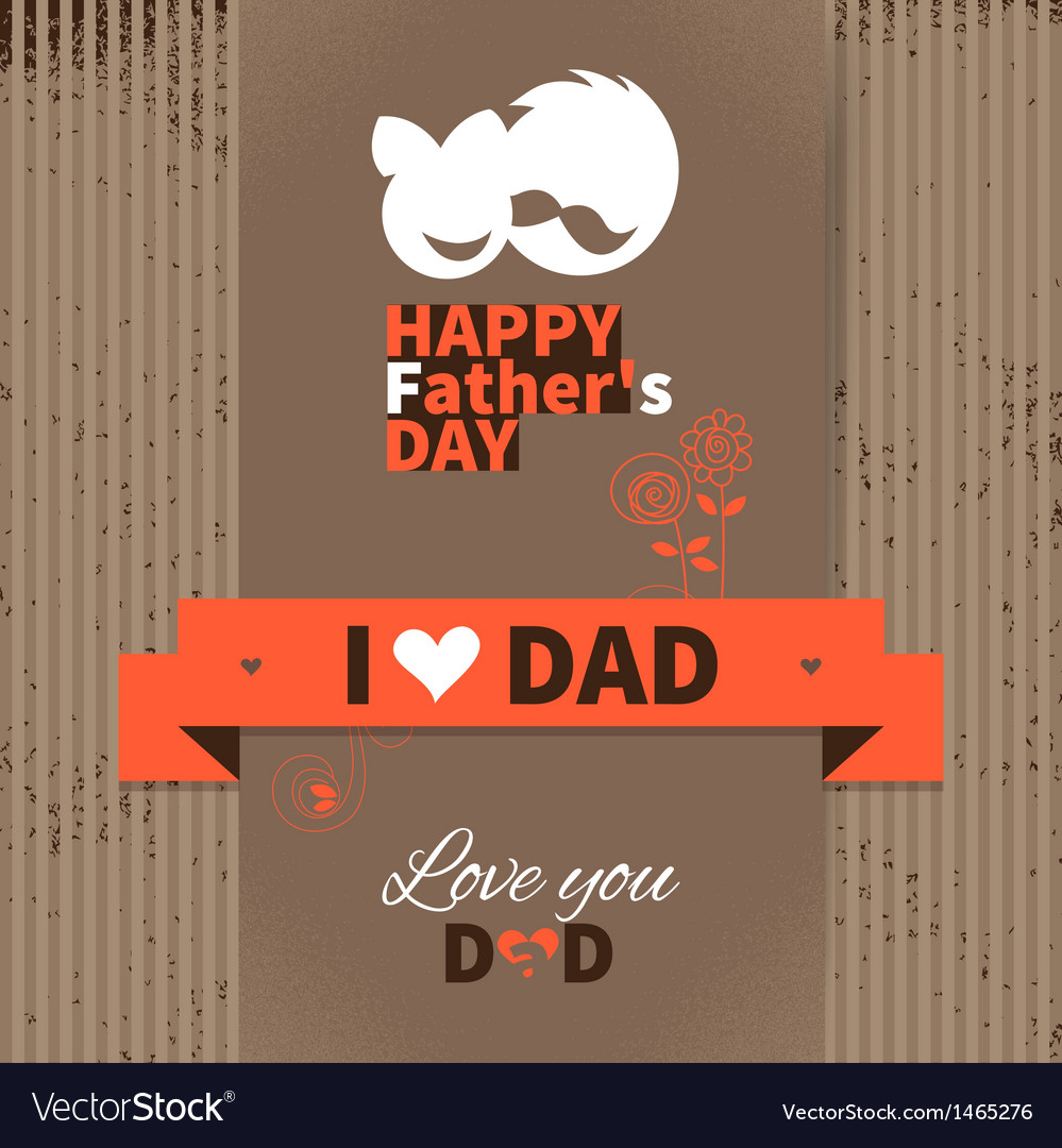 Happy Fathers Day vintage retro card