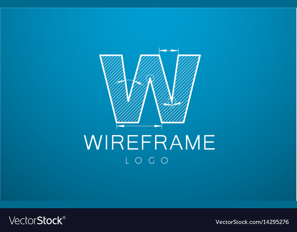 Logo template letter w in the style of a