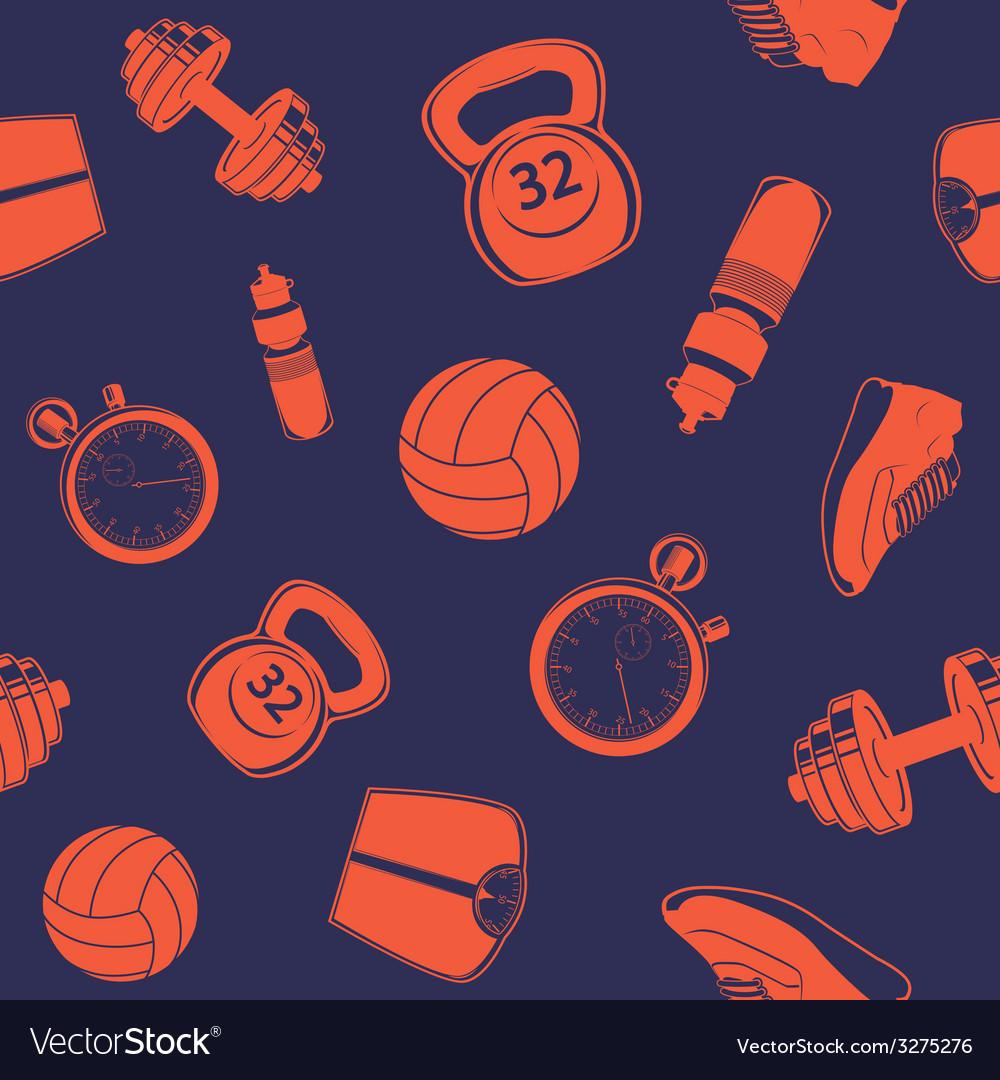 Sport seamless pattern vector image