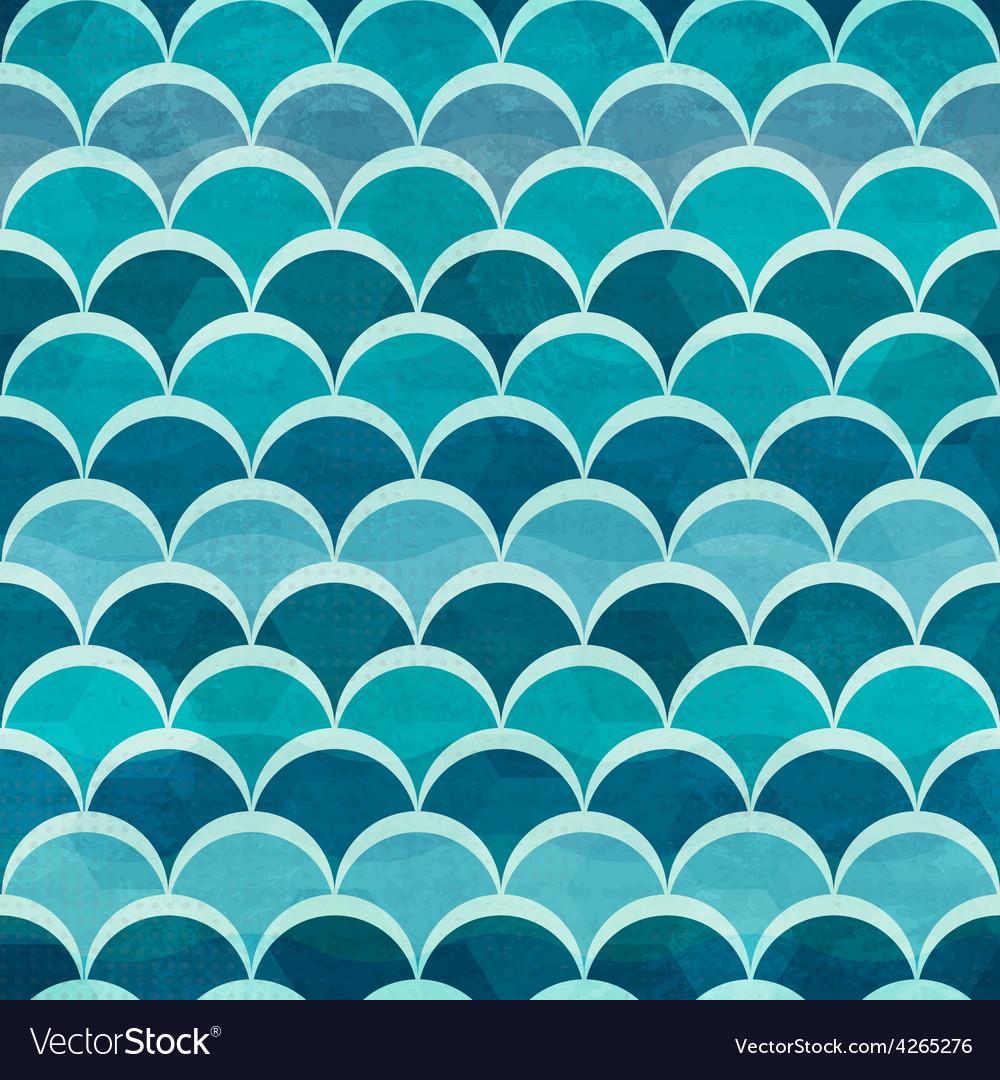 Water circle seamless pattern vector image