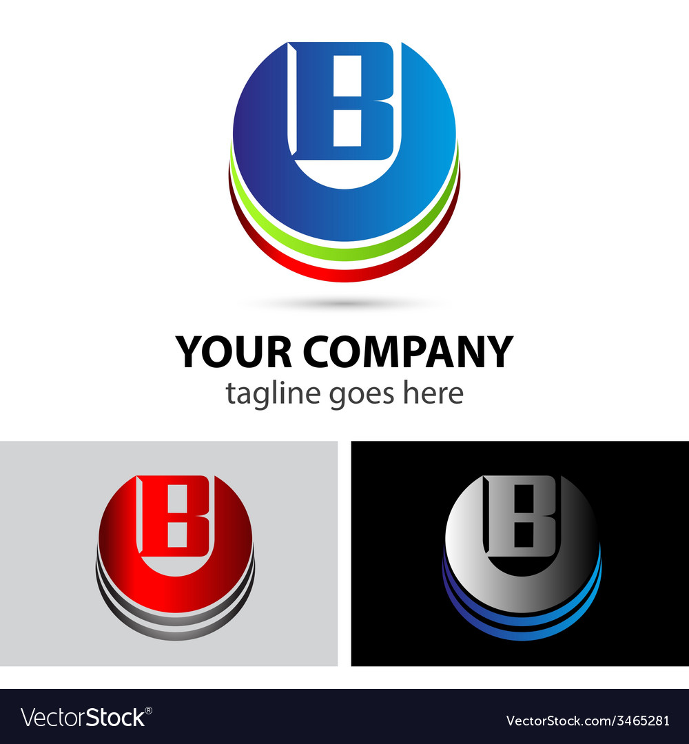 Abstract icons letter B logo