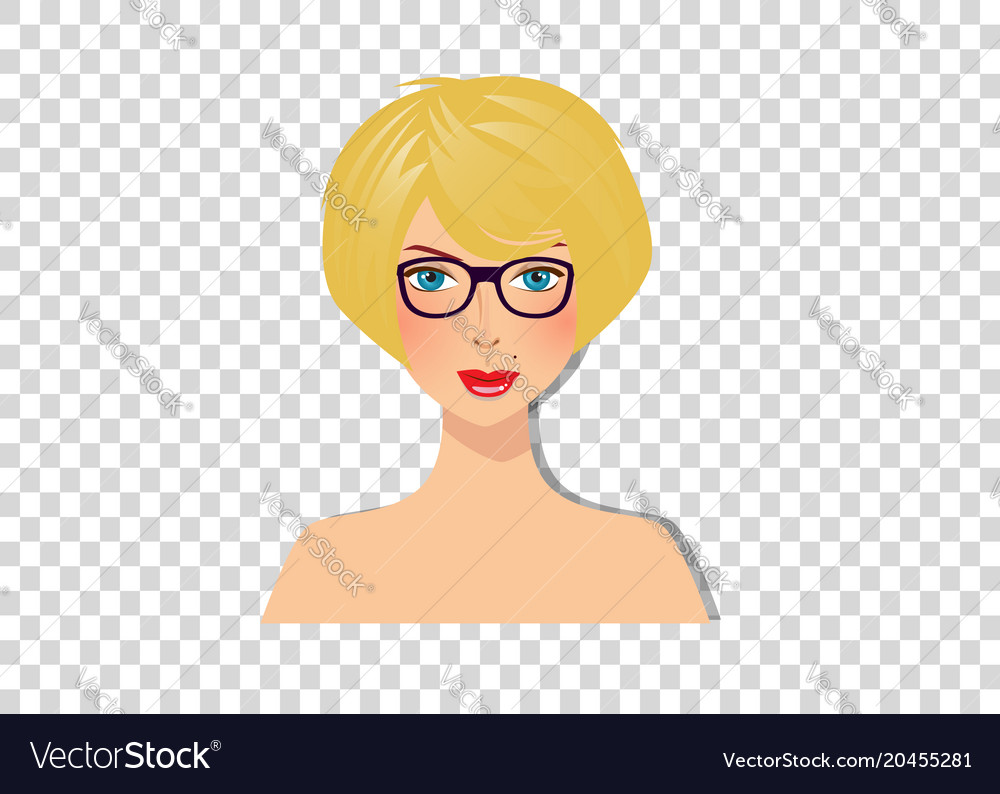 Short Blonde Hair Business Woman Vector Images 31