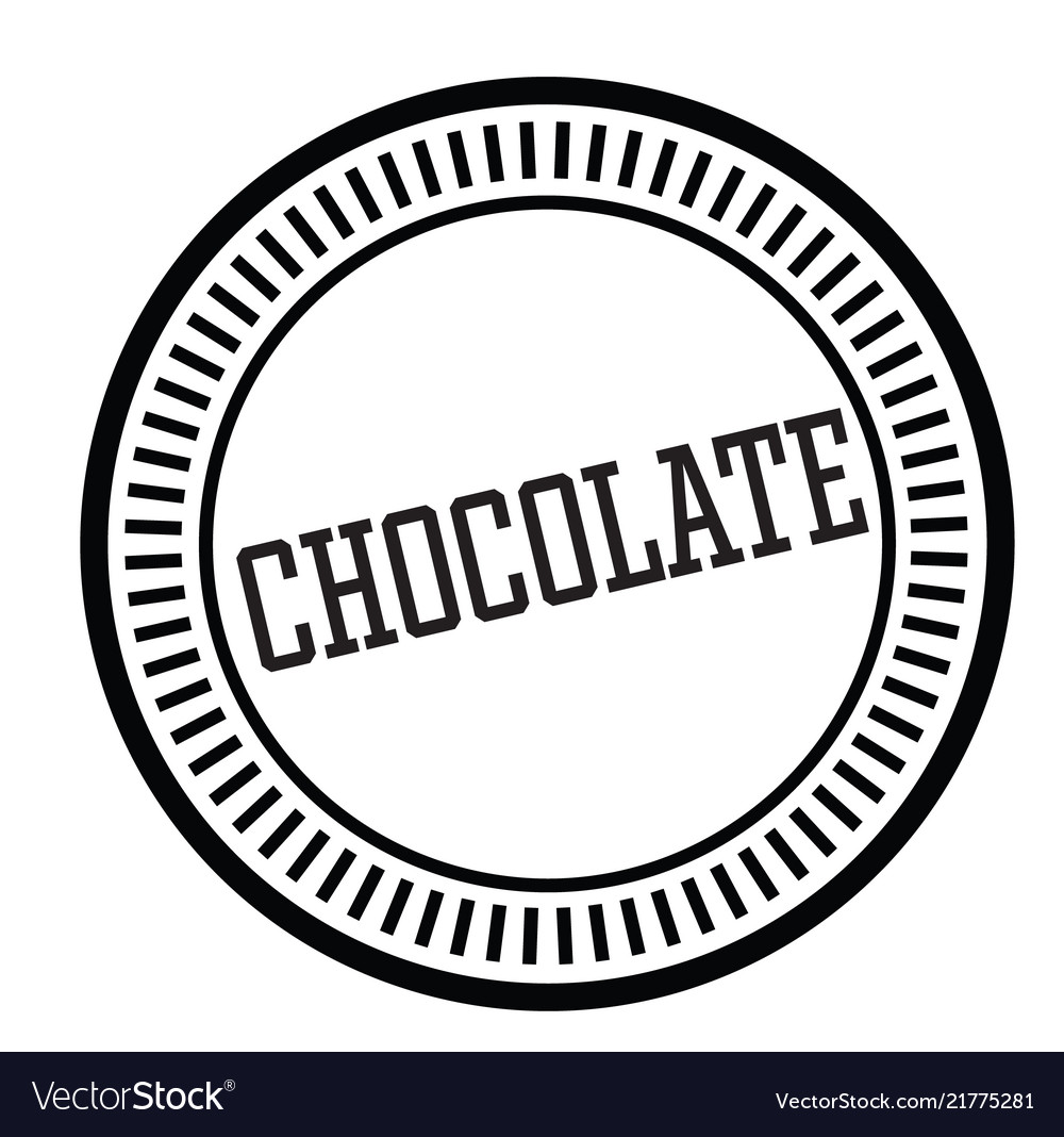 Chocolate rubber stamp vector image on VectorStock