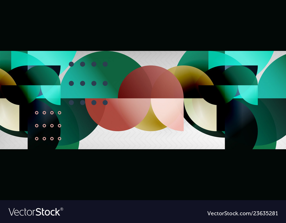 Circle abstract geometric background color