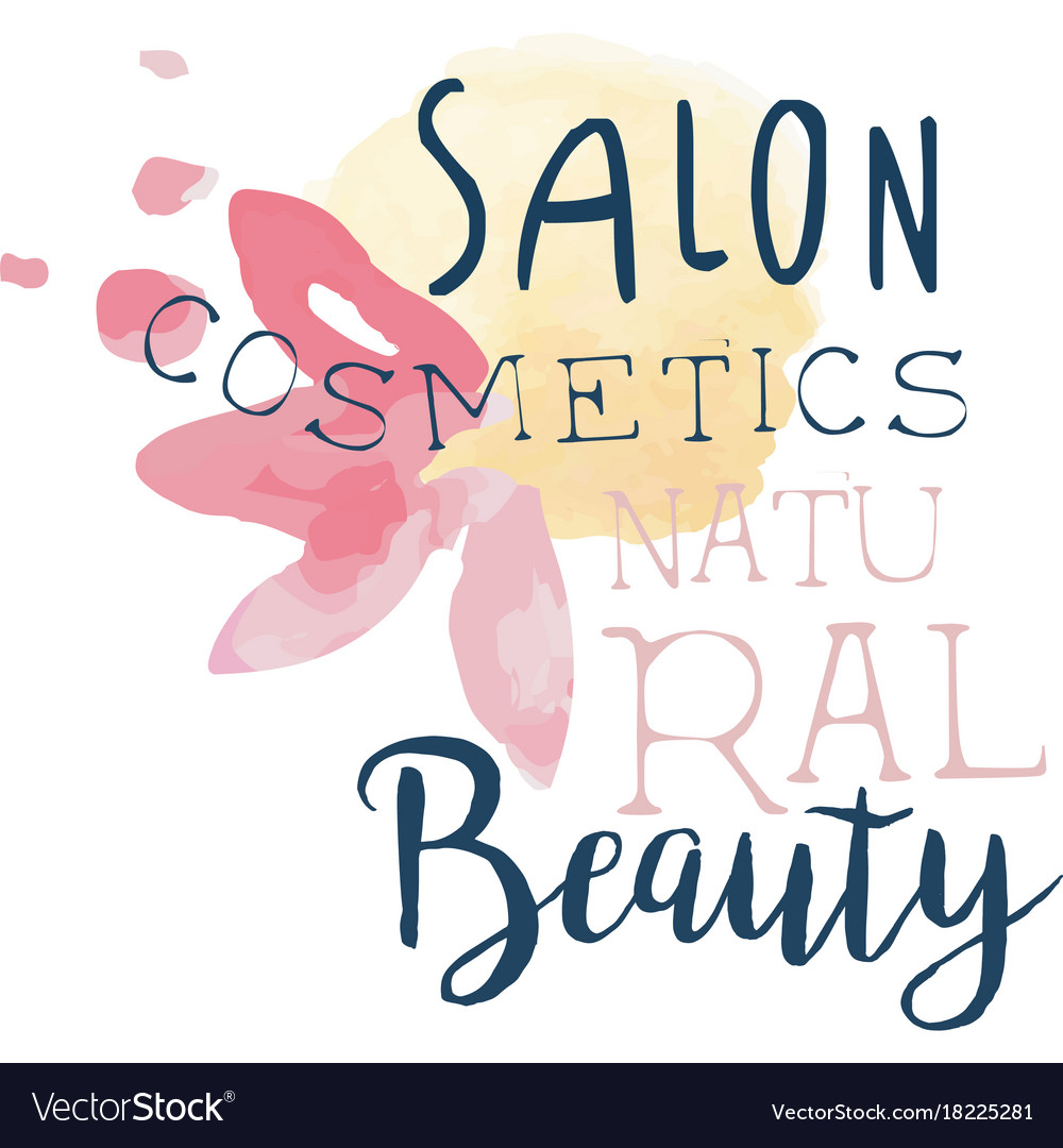 Cosmetic salon natural beauty logo label for