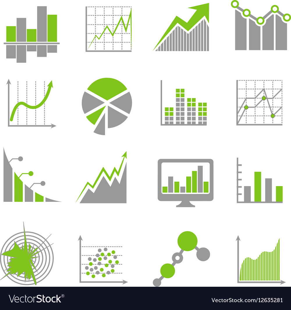Data analysis signs and financial business