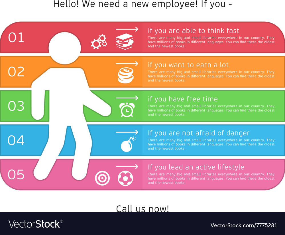 Infographics for recruiting vector image