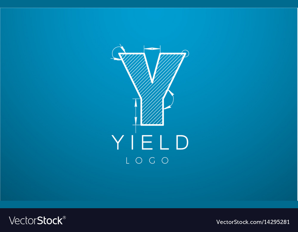 Logo template letter y in the style of a
