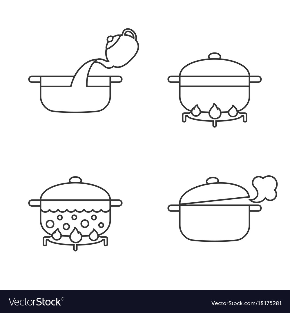 Order of cooking info graphics